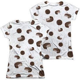 Moon Pie Sporadic Moon Pies (Front Back Print) Short Sleeve Junior Poly Crew T-Shirt