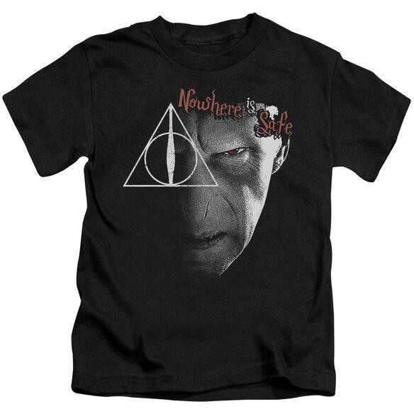 Harry Potter Nowhere Is Safe Short Sleeve Juvenile Black T-Shirt