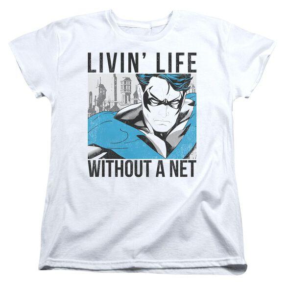 Batman Without A Net Short Sleeve Womens Tee T-Shirt