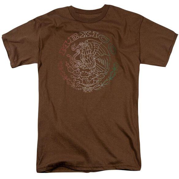 MEXICO FLAG LOGO - ADULT 18/1 - COFFEE T-Shirt