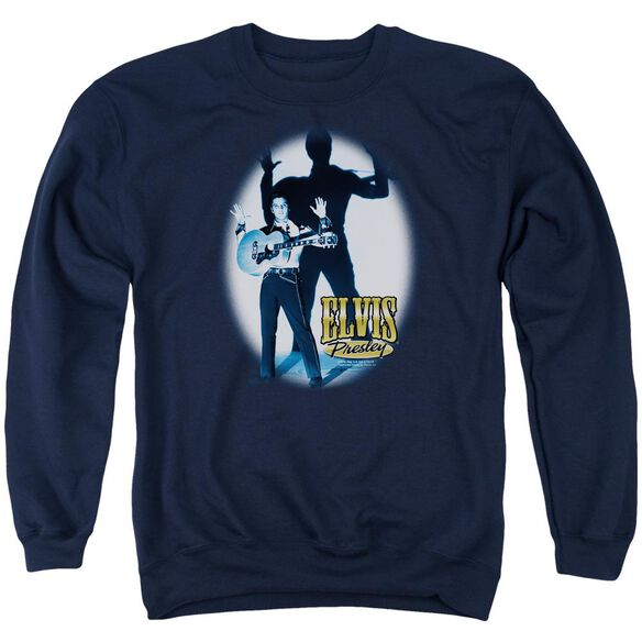 Elvis Hands Up Adult Crewneck Sweatshirt