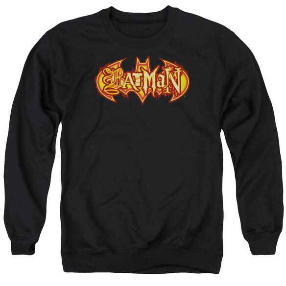 Batman Fiery Shield Adult Crewneck Sweatshirt