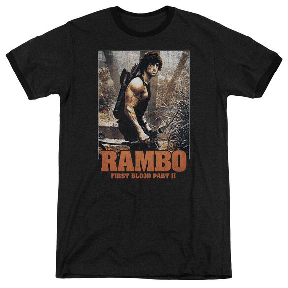 Rambo:First Blood Ii The Hunt Adult Heather Ringer Black