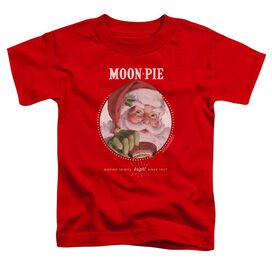 Moon Pie Snacks For Santa Short Sleeve Toddler Tee Red T-Shirt