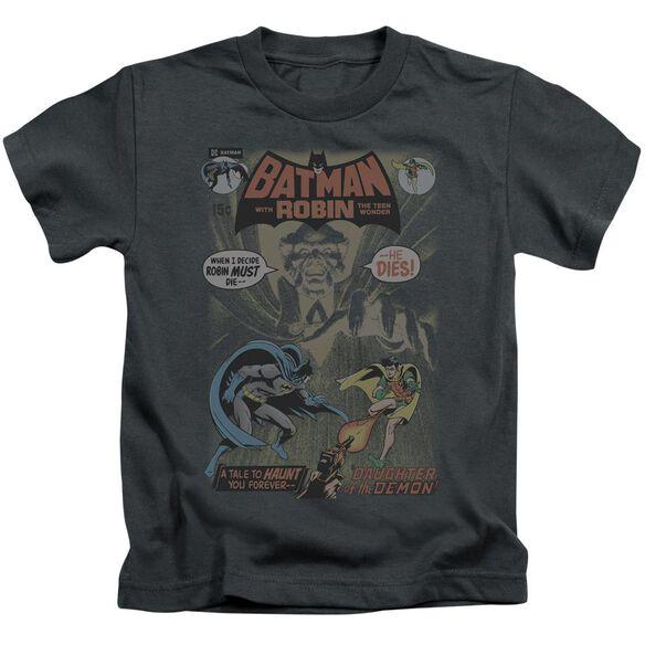 Batman #232 Cover Short Sleeve Juvenile Charcoal T-Shirt