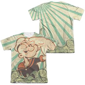 POPEYE TRAVELING MAN (FRONT/BACK PRINT)-ADULT POLY/COTTON T-Shirt