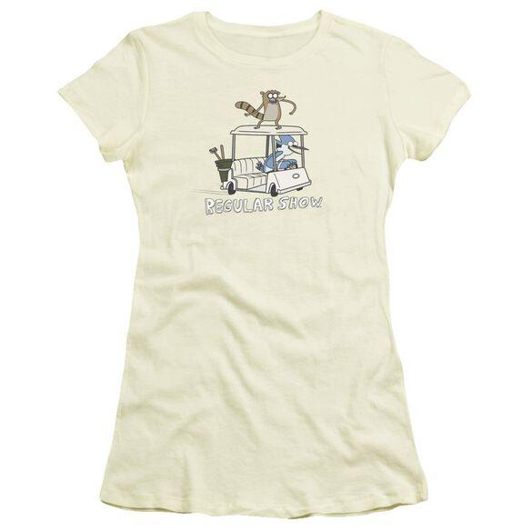 Regular Show Golf Cart Short Sleeve Junior Sheer T-Shirt