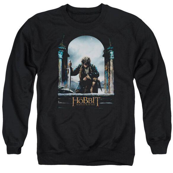 Hobbit Bilbo Poster Adult Crewneck Sweatshirt