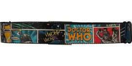 Doctor Who Comic Book Squares Seatbelt Mesh Belt