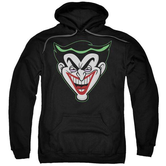 Batman Bb Animated Joker Head Adult Pull Over Hoodie