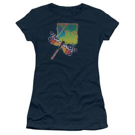Yes Dragonfly Short Sleeve Junior Sheer T-Shirt