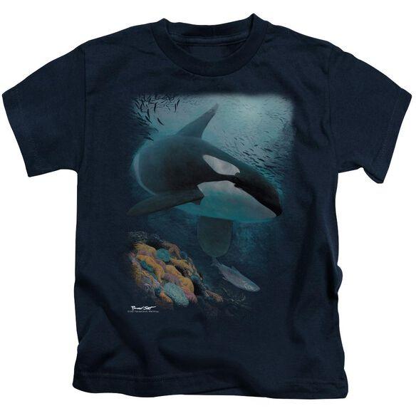 Wildlife Salmon Hunter Orca Short Sleeve Juvenile T-Shirt
