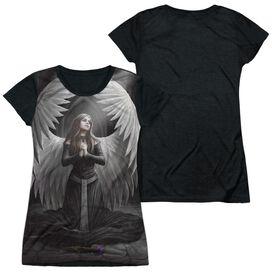 Anne Stokes Prayer For The Fallen Short Sleeve Junior Poly Black Back T-Shirt