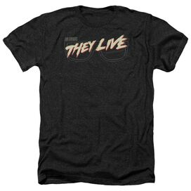 They Live Glasses Logo Adult Heather
