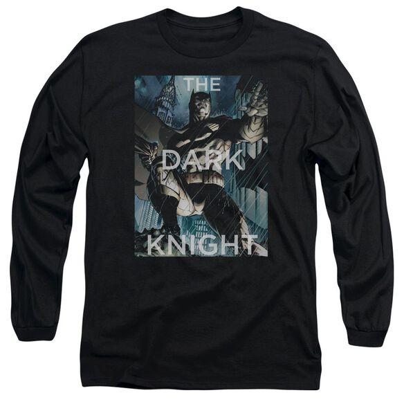 Batman Fighting The Storm Long Sleeve Adult T-Shirt
