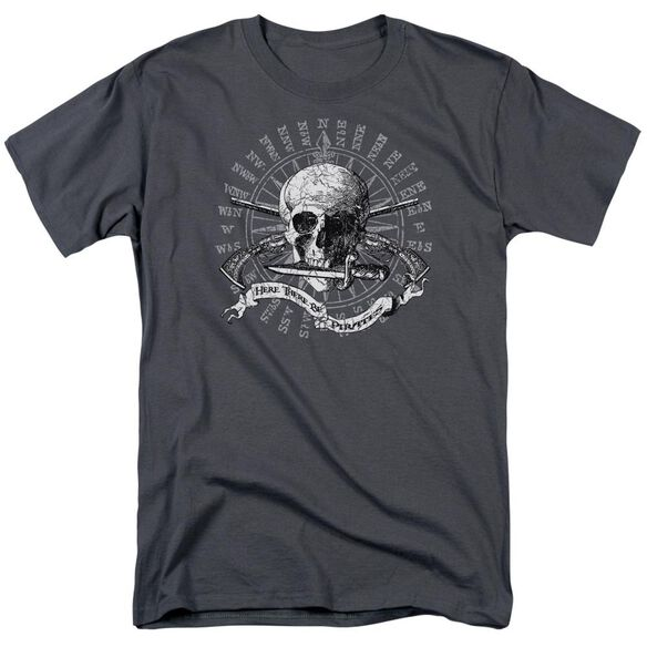 Here There Be Pirates Short Sleeve Adult T-Shirt