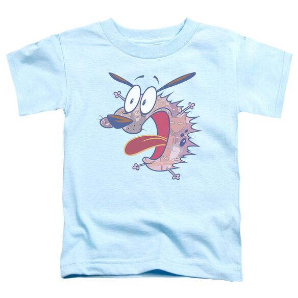 Courage The Cowardly Dog Evil Inside Short Sleeve Toddler Tee Light Blue T-Shirt
