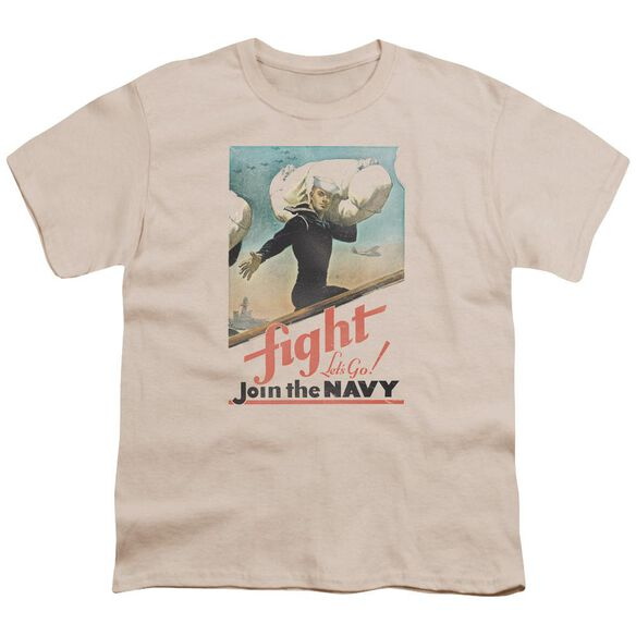 Navy Fight Let's Go Short Sleeve Youth T-Shirt