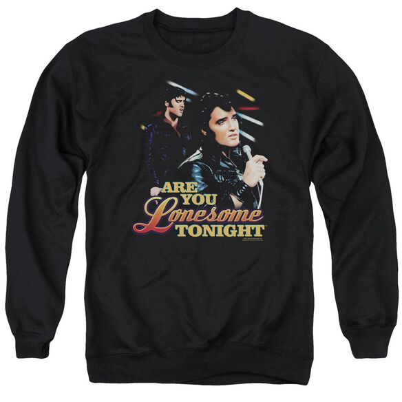 Elvis Are You Lonesome Adult Crewneck Sweatshirt