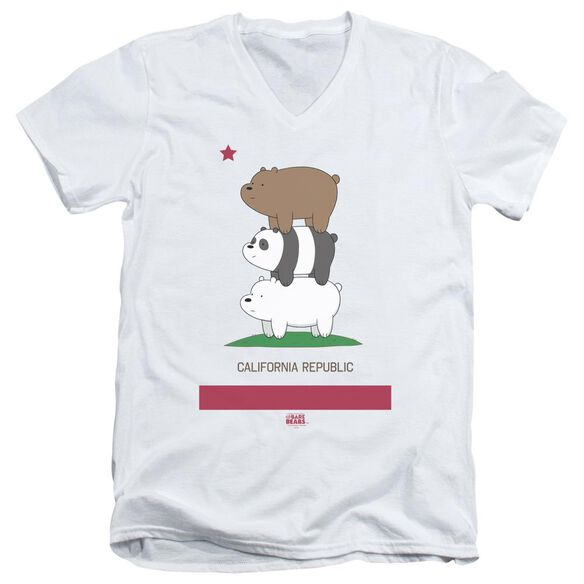 We Bare Bears Cali Stack Short Sleeve Adult V Neck T-Shirt