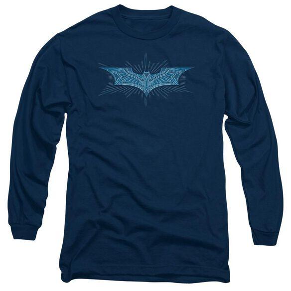 Dark Knight Bat Armor Logo Long Sleeve Adult T-Shirt
