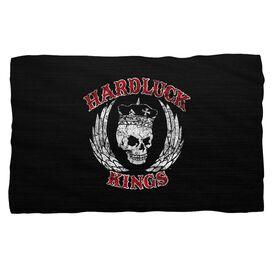 Hardluck Kings Red Letter Distressed Fleece Blanket