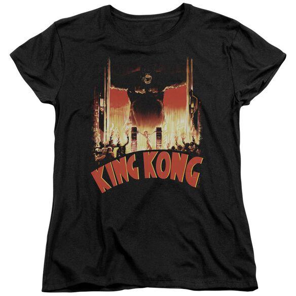 King Kong At The Gates Short Sleeve Womens Tee T-Shirt