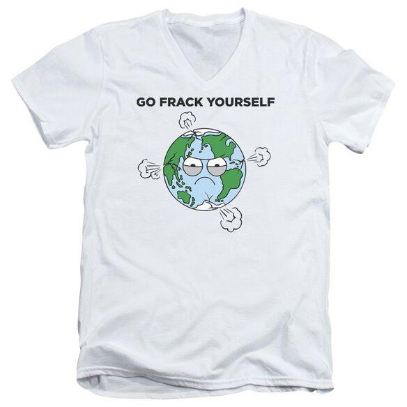 Frack Short Sleeve Adult V Neck T-Shirt