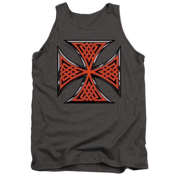 Celtic Iron Cross - Adult Tank - Charcoal