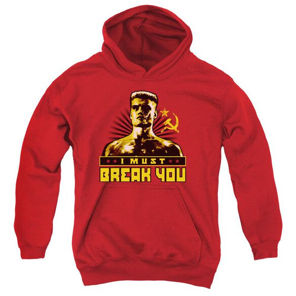 Rocky Iv I Must Break You Youth Pull Over Hoodie