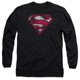 Superman Worn Logo Long Sleeve T-Shirt