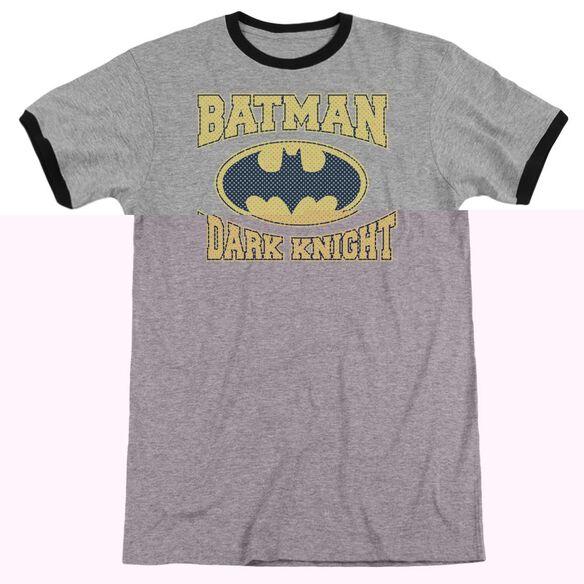 Batman Dark Knight Jersey Adult Ringer Heather Black
