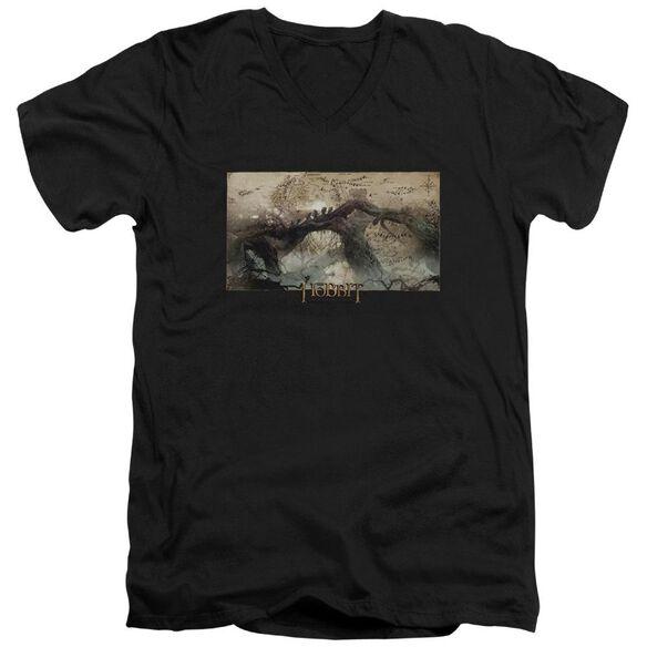 Hobbit Epic Journey Short Sleeve Adult V Neck T-Shirt