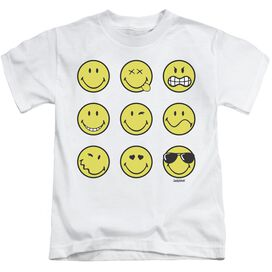 Smiley World Nine Faces Short Sleeve Juvenile T-Shirt