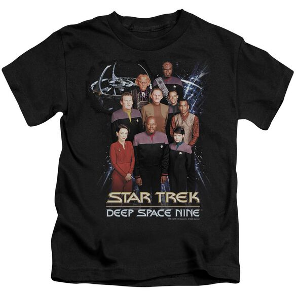 Star Trek Ds9 Crew Short Sleeve Juvenile Black T-Shirt