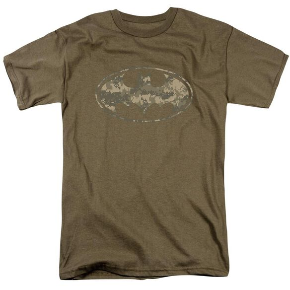 BATMAN ARMY CAMO SHIELD - S/S ADULT 18/1 - SAFARI GREEN T-Shirt