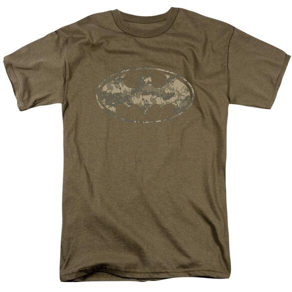 Batman Army Camo Shield Short Sleeve Adult Safari T-Shirt