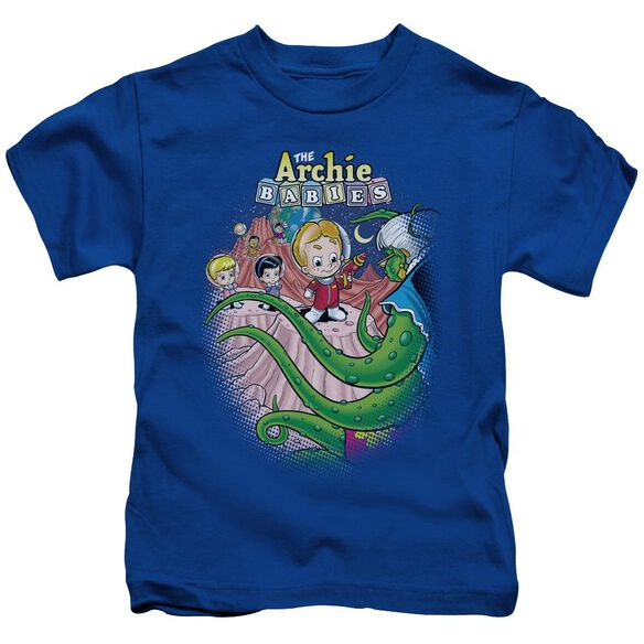 Archie Babies Babies In Space Short Sleeve Juvenile Royal Blue Md T-Shirt