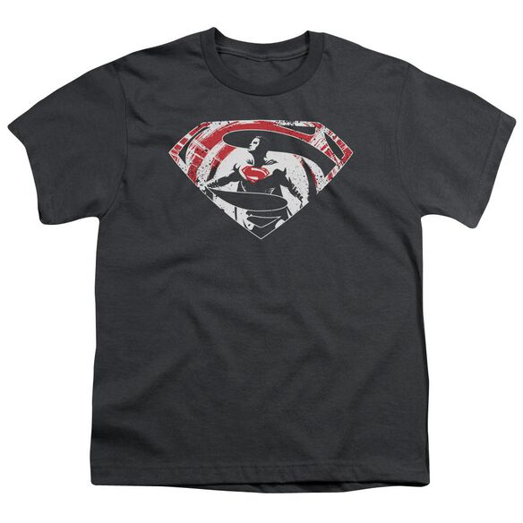 Batman V Superman Super Splatter Logo Short Sleeve Youth T-Shirt