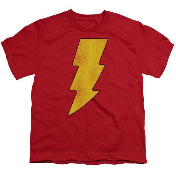 Dc Shazam Logo Distressed Short Sleeve Youth T-Shirt