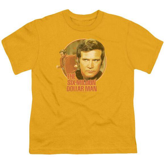Six Million Dollar Man Run Faster Short Sleeve Youth T-Shirt