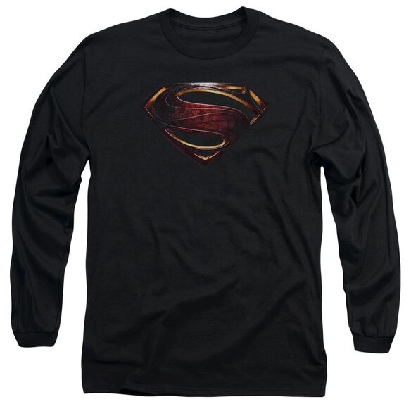 Justice League Movie Superman Logo Long Sleeve Adult T-Shirt
