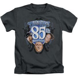 Three Stooges 85 Th Anniversary 2 Short Sleeve Juvenile Charcoal Md T-Shirt