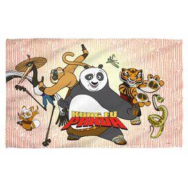 Kung Fu Panda Kung Fu Group Beach Towel