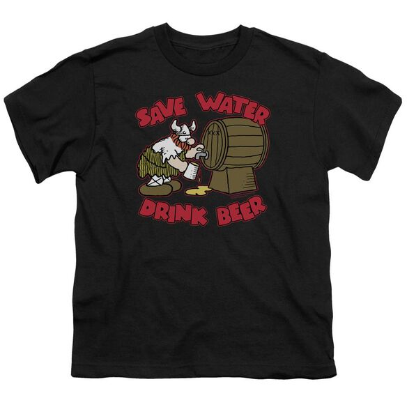 Hagar The Horrible Save Water Drink Beer Short Sleeve Youth T-Shirt