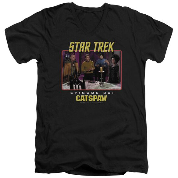 Star Trek Original Cat's Paw Short Sleeve Adult V Neck T-Shirt