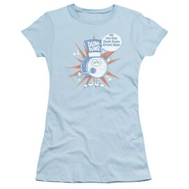 Dum Dums Drum Man Short Sleeve Junior Sheer Light T-Shirt