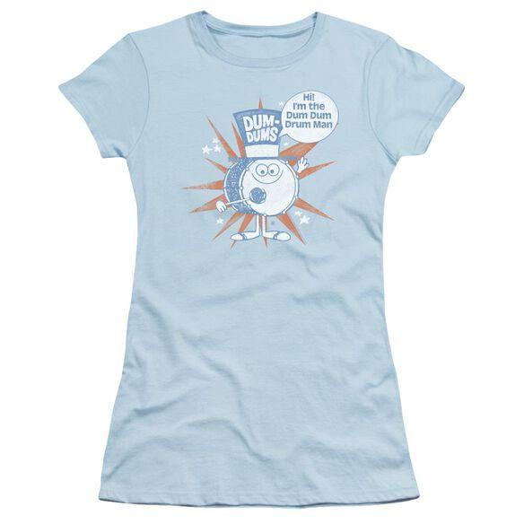 Dum Dums Drum Man Short Sleeve Junior Sheer Light T-Shirt