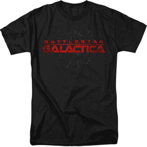 BSG BATTERED LOGO - S/S ADULT 18/1 - BLACK T-Shirt