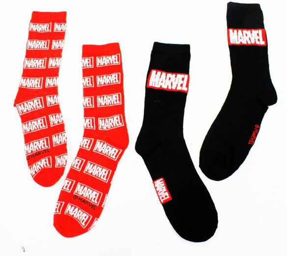 Marvel Logo Socks [2 Pairs]